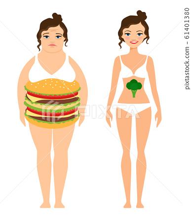 Woman diet concept 61401380