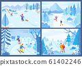 Skiing and Figure Skating, Winter Sports Activity 61402246