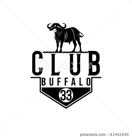 Retro Vintage Cattle Angus Beef Emblem Label Logo 61402840