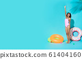 woman dressed in swimwear gesturing say hi 61404160