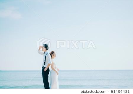 海邊婚禮肖像 61404481