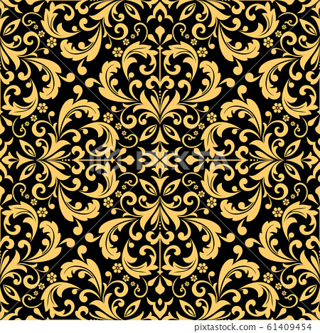 Wallpaper in the style of Baroque. Seamless vector 61409454