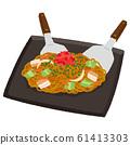 Illustration of teppanyaki noodles 61413303