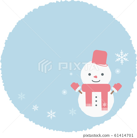 Snowflake and snowman frame 61414701
