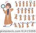 flat type big size coat women_Action 61415066