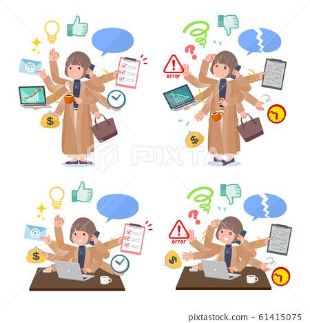 flat type big size coat women_mulch task Office 61415075