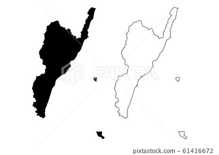 Taitung County map vector.... 61416672
