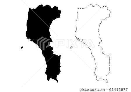 Pingtung County map vector.... 61416677