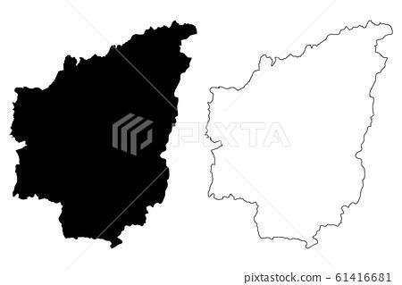 Nantou County map vector.... 61416681
