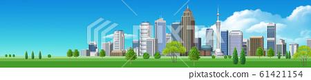 거리 풍경 빌딩 - 가로 A 일러스트 61421154