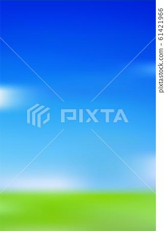 草地的天空風景背景 61421966