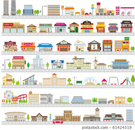 城市景觀住宅城市商店設施車站安排 61424319