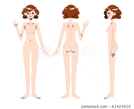 Naked woman whole body deformation 61424810