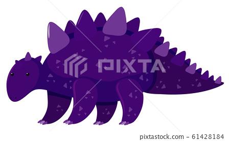 Single picture of stegosaurus in purple 61428184