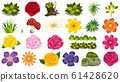 Set of isolated objects theme - flowers 61428620