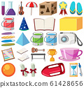 Set of isolated objects theme school 61428656