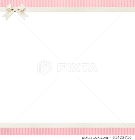 背景粉紅色條紋絲帶框架 61428710