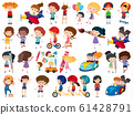 Large set of isolated objects of kids 61428791
