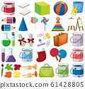 Set of isolated objects theme school 61428805
