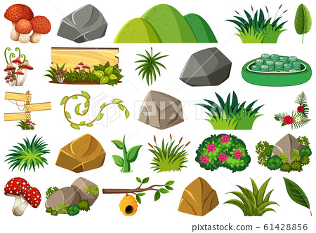 Set of isolated objects theme - nature 61428856