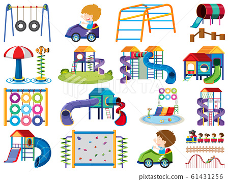 Large set of isolated objects of kids and 61431256