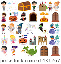 Set of isolated objects theme fairytale 61431267