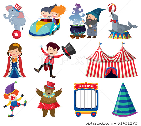 Set of different people and animals 61431273