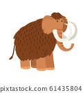 Cartoon mammoth isolated on white background 61435804