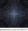 Round abstract geometric pattern. Mandala. 61436317
