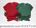 Red and green tshirt mockup - shirt boots and 61437110