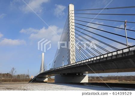 Take a picture of Tokachi Bridge from the riverbed of Tokachi River 61439529