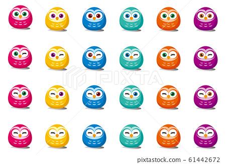 Daruma owl icon 61442672