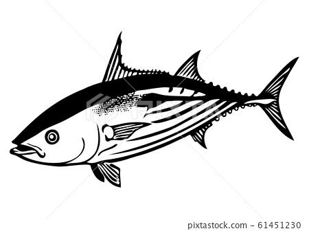 魚圖(黑色和白色) 61451230