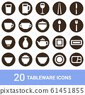 产品图标餐具白色轮廓20套 61451855