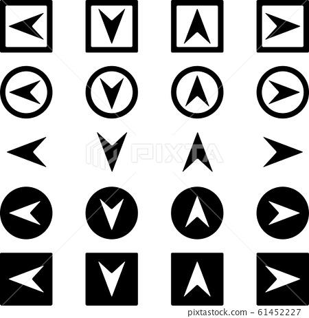 箭頭圖標四個方向設置 61452227