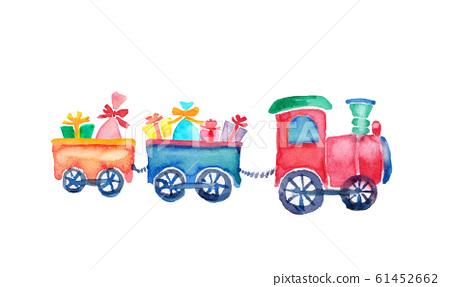 기차 폽포 기차 선물 일러스트 수채화 61452662