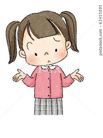 소녀 기가 막힌 포즈 (검은 선) 61455895