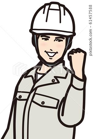 승리의 포즈 헬멧 남성 61457588