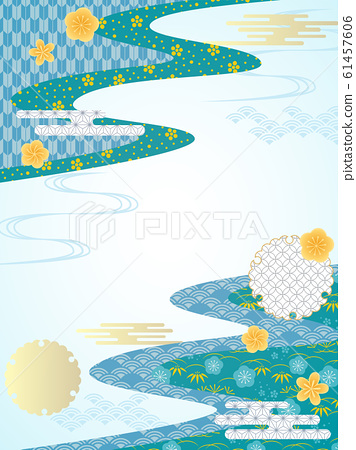여름 수화 무늬 프레임 61457606