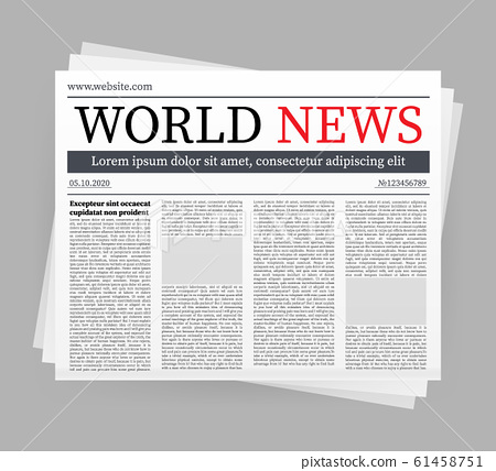 Vector mock up of a blank daily newspaper. Fully 61458751