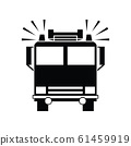 Cute Fire truck icon for banner, general design 61459919