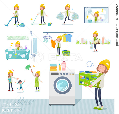 flat type knit cap blouson women_housekeeping 61460092