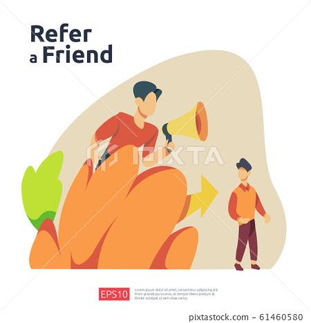 refer a friend illustration concept. affiliate 61460580