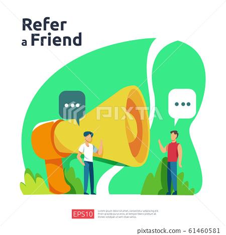 refer a friend illustration concept. affiliate 61460581