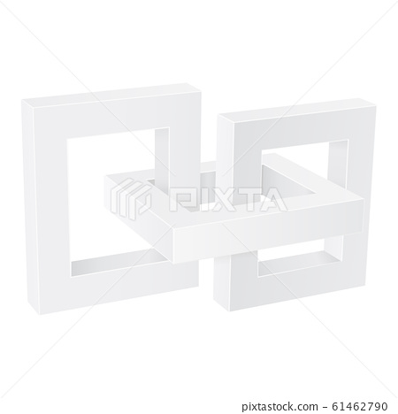 White chain elements. 3d signs 61462790