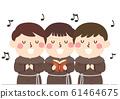 Kids Monk Singing Illustration 61464675