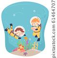 Kids Scuba Explore Underwater Notes Illustration 61464707