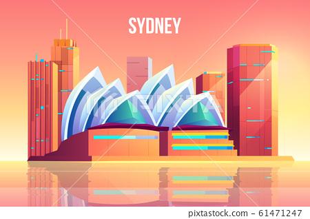 Sydney city with opera theater skyline, Australia 61471247