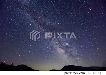 Summer Milky Way and Shooting Stars Seen from Ozegahara 61471815
