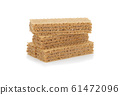wafer biscuit isolated on white background. 61472096